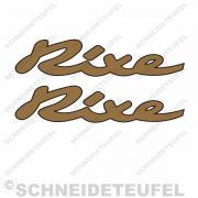 Rixe Schriftzug Aufkleber goldmetallic