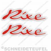 Rixe Schriftzug Aufkleber Rot