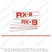 Hercules RX-9 Aufkleberset rot