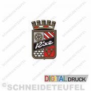 Rixe Emblem rot mit diamanten