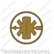 Kreidler Logo gold/schwarz klein