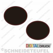 Seitenaufkleber 21 x 26cm schwarz rot