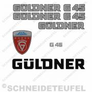 Güldner G 45 Aufkleberset Silber