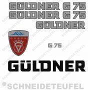 Güldner G 75 Aufkleberset Silber