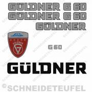 Güldner G 60 Aufkleberset Silber