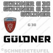 Güldner G30 Aufklebersatz silber