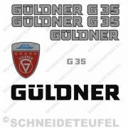 Güldner G35 Aufklebersatz Silber