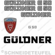 Güldner G50 Aufklebersatz silber