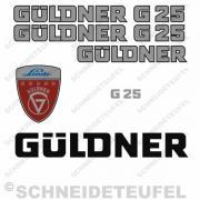 Güldner G 25 Aufkleberset silber