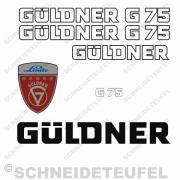 Güldner G75 Aufkleberset weiss