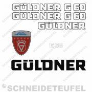 Güldner G 60 Aufkleberset weiss