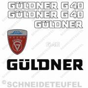 Güldner G 40 Aufkleberset Weiss