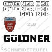 Güldner G30 Aufkleberset  weiss