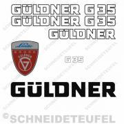 Güldner G35 Aufklebersatz weiss