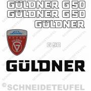 Güldner G50 Aufkleberset weiss