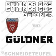 Güldner G25 Aufkleberset weiss
