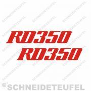 Yamaha RD 350 rot Aufkleberset