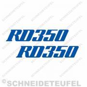 Yamaha RD 350 blau  Aufkleberset