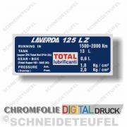 Laverda 125 LZ Tankaufkleber Chrom