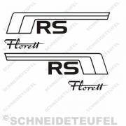 Kreidler Seitenaufkleber Florett RS Set