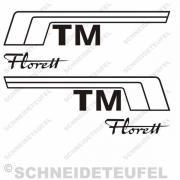 Kreidler Florett TM Seitenaufkleber Set