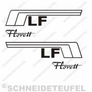 Kreidler Seitenaufkleber Florett LF Set