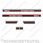 IHC International Aufkleberset rot weiss schwarz 10x160cm