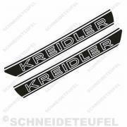 Kreidler Tankaufkleber Weiss Set