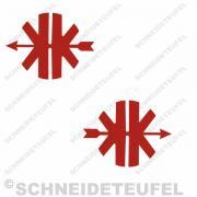 Kreidler Logo rot Set