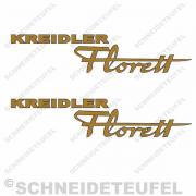 Kreidler Seitenaufkleber Florett gold/schwarz Set