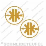 Kreidler Logo gold Set