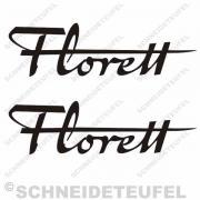 Kreidler Florett Schriftzug Set schwarz