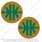 Kreidler Logo gold/grün Set