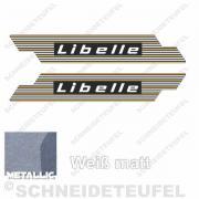 Rixe Libelle Seitenaufkleber Gold Silber
