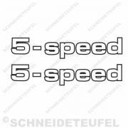 Zündapp 5 speed Schriftzug